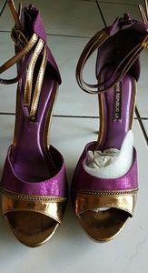 Purple and Gold Pumps